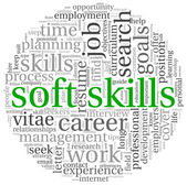 Soft skills concept on white — 图库照片