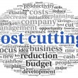 Stock Photo: Focus on costs cutting concept