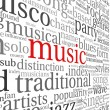 Stock Photo: Music concept words
