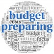 Budget preparing  concept — Stock Photo