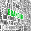 Branding concept in tag cloud - Stock Photo
