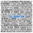Collaboration concept in word tag cloud — Stock Photo #20821183