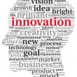 Innovation and technology concept in tag cloud — 图库照片
