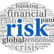 Risk in economy and finance concept on white — Stock Photo #20821529