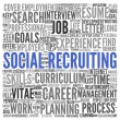 Social recruiting concept — Photo