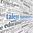 Talent management in word tag cloud — Stock Photo