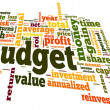 Stock Photo: Budget concept in tag cloud