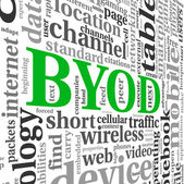 BYOD concept in tag cloud — Stock Photo