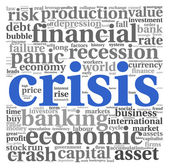Crisis concept on white — Stock Photo