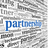 Partnership and business concept in tag cloud — Stock Photo