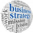 Business strategy concept in word tag cloud — Stock Photo #21710029