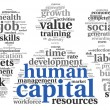Human capital concept in tag cloud — Stock Photo #21710071