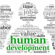 Stock Photo: Humdevelopment concept in tag cloud