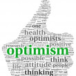 Optimism concept in tag cloud — Foto Stock
