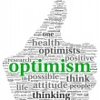 Optimism concept in tag cloud — Stock fotografie