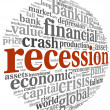 Recession concept on white — Stock Photo