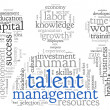 Постер, плакат: Talent management in word tag cloud