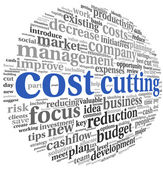 Costs cutting concept — Stock Photo