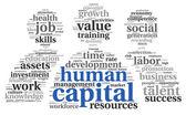 Ludzkie pojęcie kapitału w chmury tagów — Zdjęcie stockowe