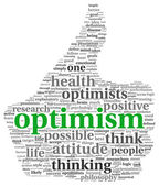 Optimism concept in tag cloud — Stock Photo