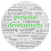 Personal development in tag cloud — Foto Stock
