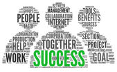 Success concept in tag cloud — Stock Photo
