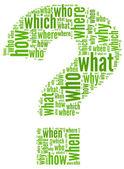 Söz konusu mark sorular — Stok fotoğraf