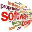 Stock Photo: Software design concept in tag cloud
