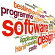 Software design concept in tag cloud — Stok fotoğraf