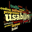 Usability concept in tag cloud — Foto Stock