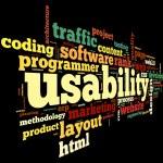 conceito de usabilidade em nuvem de Tags — Foto Stock