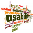 Stock Photo: Usability concept in tag cloud