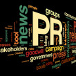 Public relations concept in tag cloud — Stok fotoğraf
