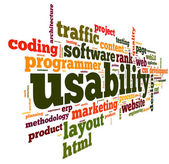 Usability concept in tag cloud — Stock Photo