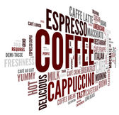 Coffee concept in word tag cloud — Stock Photo