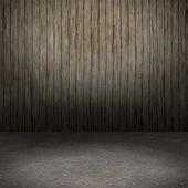 Grunge interior with metal floor — Stock Photo