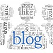 Blog concept in word tag cloud — Stock Photo #22872460