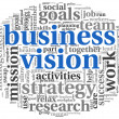 Business vision concept in word tag cloud — Stock Photo