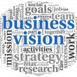 Stock Photo: Business vision concept in word tag cloud