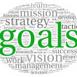 Goals concept in word tag cloud — Stock Photo #22872498
