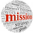 Stock Photo: Mission concept in word tag cloud