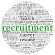 Recruitment concept in word tag cloud — Stock Photo #22872640
