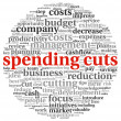 Stock Photo: Spending cuts concept