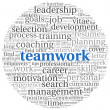 Teamwork concept in word tag cloud — Stock Photo