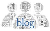 Blog concept in word tag cloud — Stock Photo