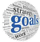 Goals concept in word tag cloud — Stock Photo