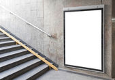 Blank billboard or poster in hall — Stok fotoğraf