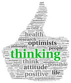 Positive thinking concept in tag cloud — Stock Photo
