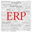 ERP in word tag cloud — Stock Photo #23601359