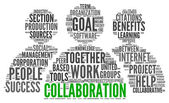 Collaboration concept in word tag cloud — Foto de Stock
